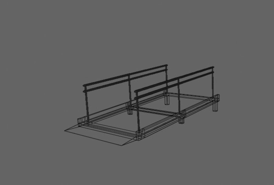 Access Ramp royalty-free 3d model - Preview no. 5