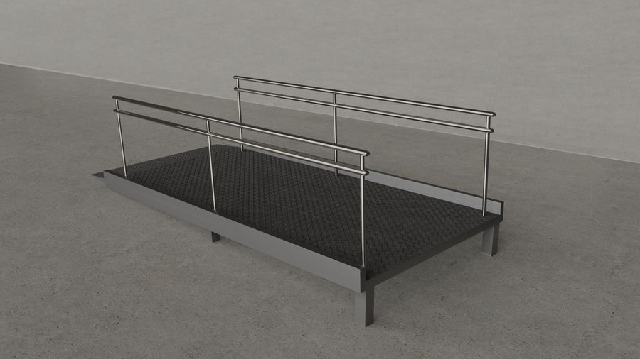 Access Ramp royalty-free 3d model - Preview no. 2