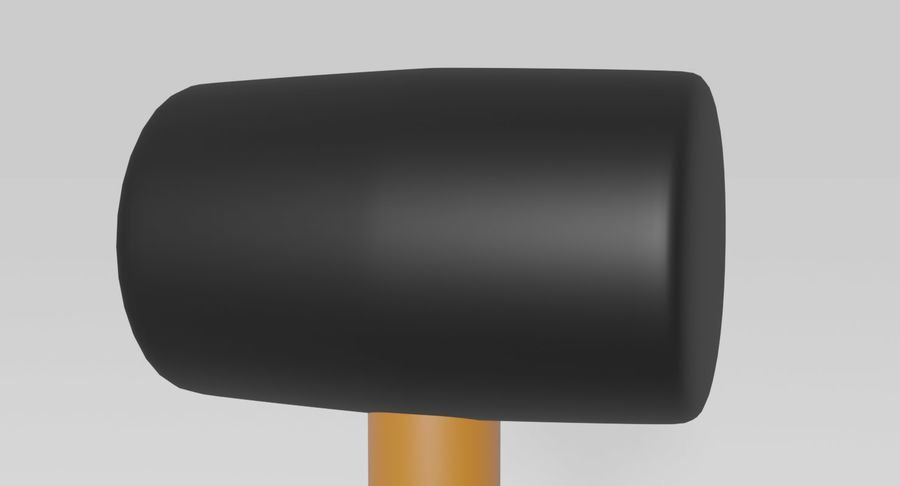 Rubber Mallet royalty-free 3d model - Preview no. 4
