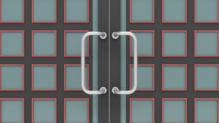 Factory and warehouse and garage door royalty-free 3d model - Preview no. 9