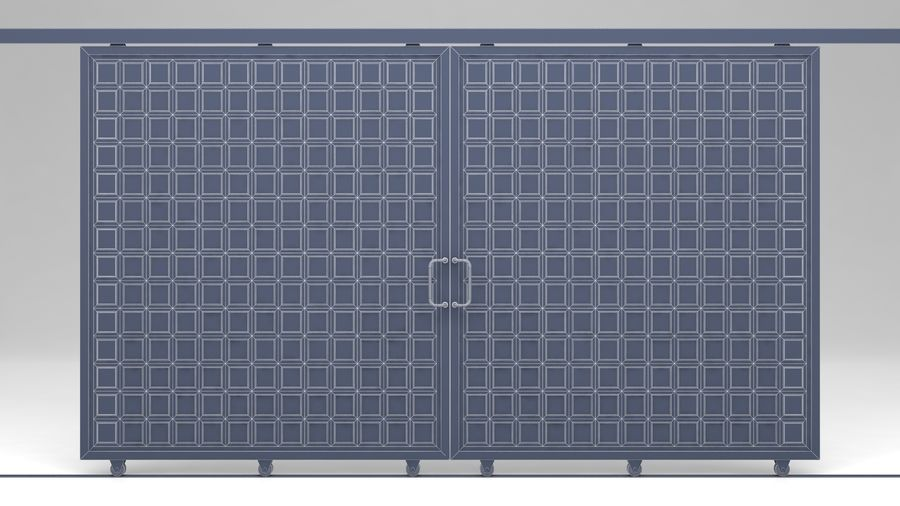 Factory and warehouse and garage door royalty-free 3d model - Preview no. 12