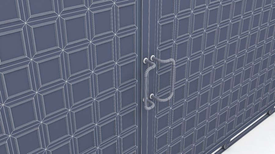 Factory and warehouse and garage door royalty-free 3d model - Preview no. 20