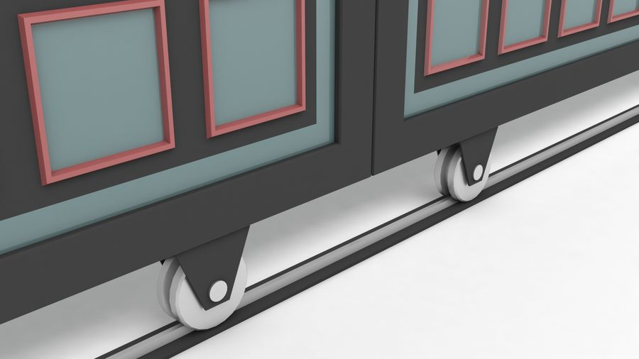 Factory and warehouse and garage door royalty-free 3d model - Preview no. 7