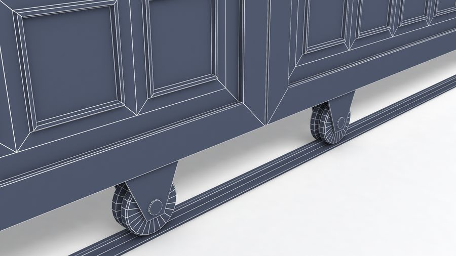 Factory and warehouse and garage door royalty-free 3d model - Preview no. 17