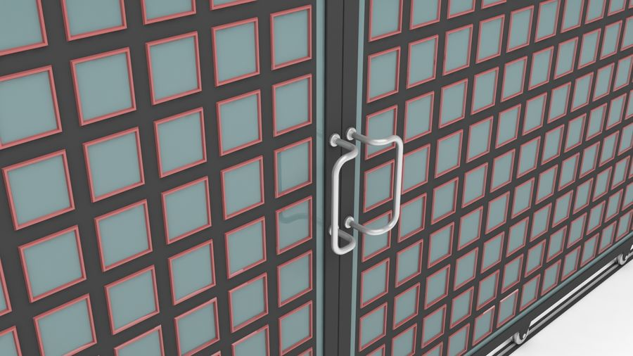 Factory and warehouse and garage door royalty-free 3d model - Preview no. 10