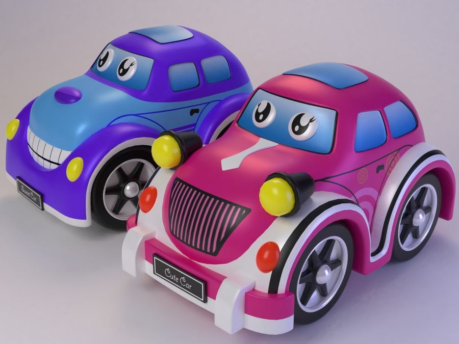 Toy car for cartoon 021 royalty-free 3d model - Preview no. 13