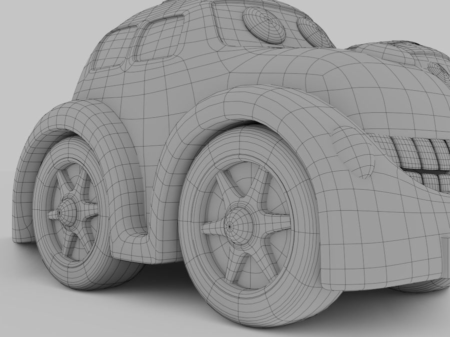 Toy car for cartoon 021 royalty-free 3d model - Preview no. 8