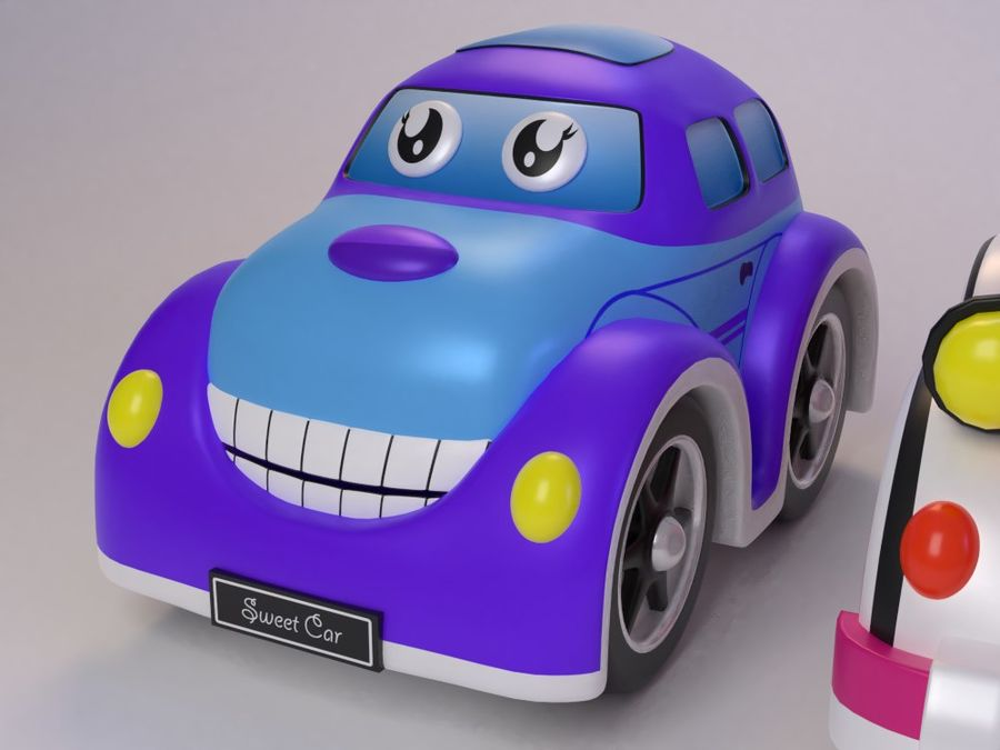 Toy car for cartoon 021 royalty-free 3d model - Preview no. 3