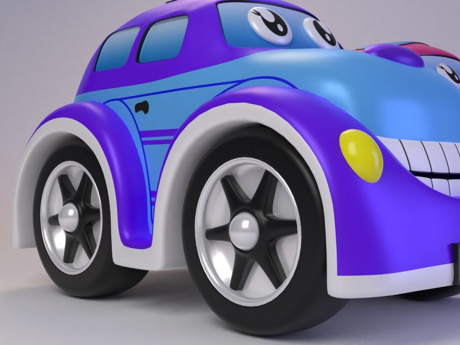 Toy car for cartoon 021 royalty-free 3d model - Preview no. 7