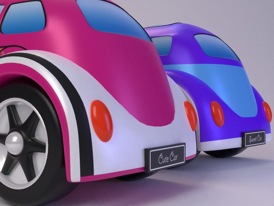Toy car for cartoon 021 royalty-free 3d model - Preview no. 11