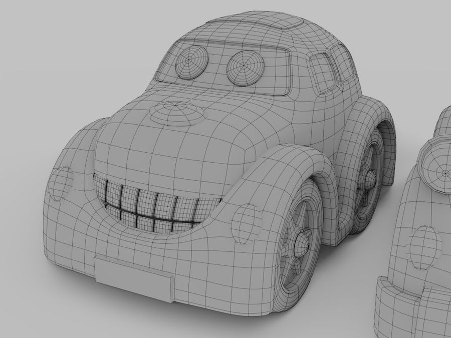 Toy car for cartoon 021 royalty-free 3d model - Preview no. 4