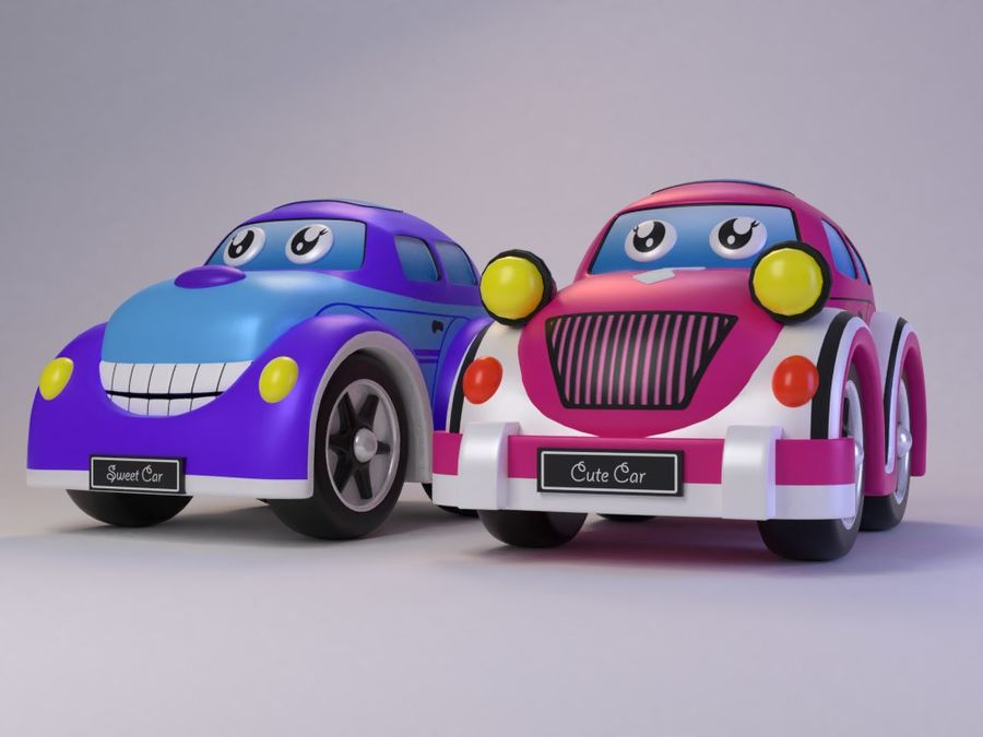 Toy car for cartoon 021 royalty-free 3d model - Preview no. 1