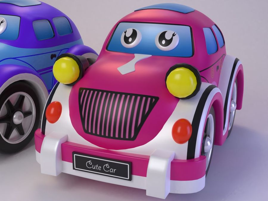 Toy car for cartoon 021 royalty-free 3d model - Preview no. 5