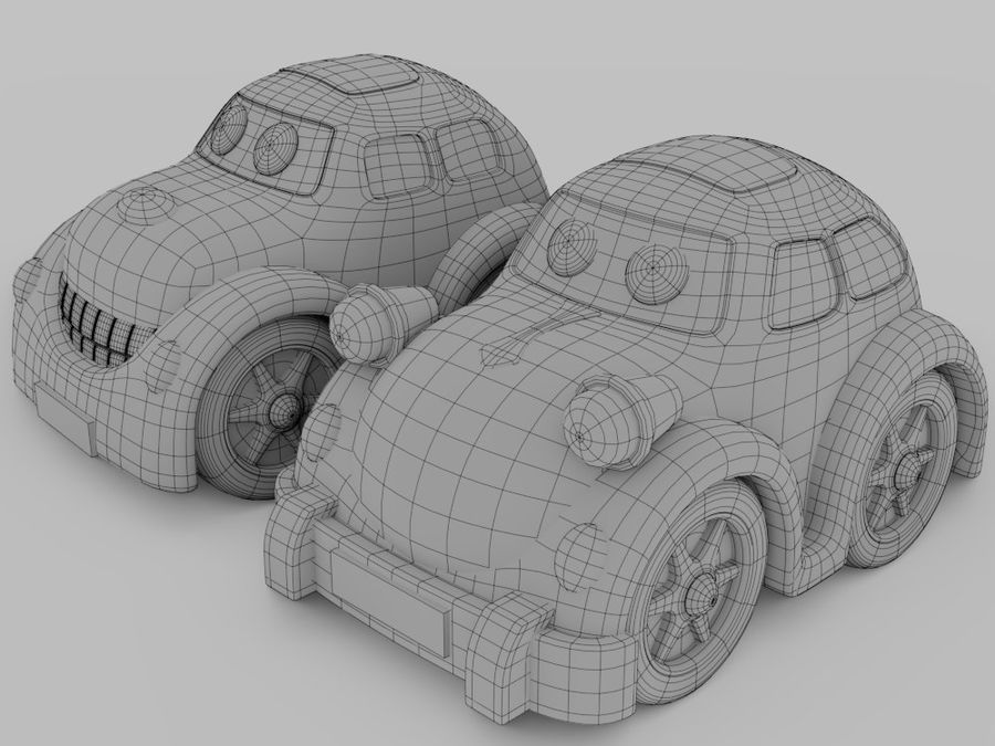 Toy car for cartoon 021 royalty-free 3d model - Preview no. 14