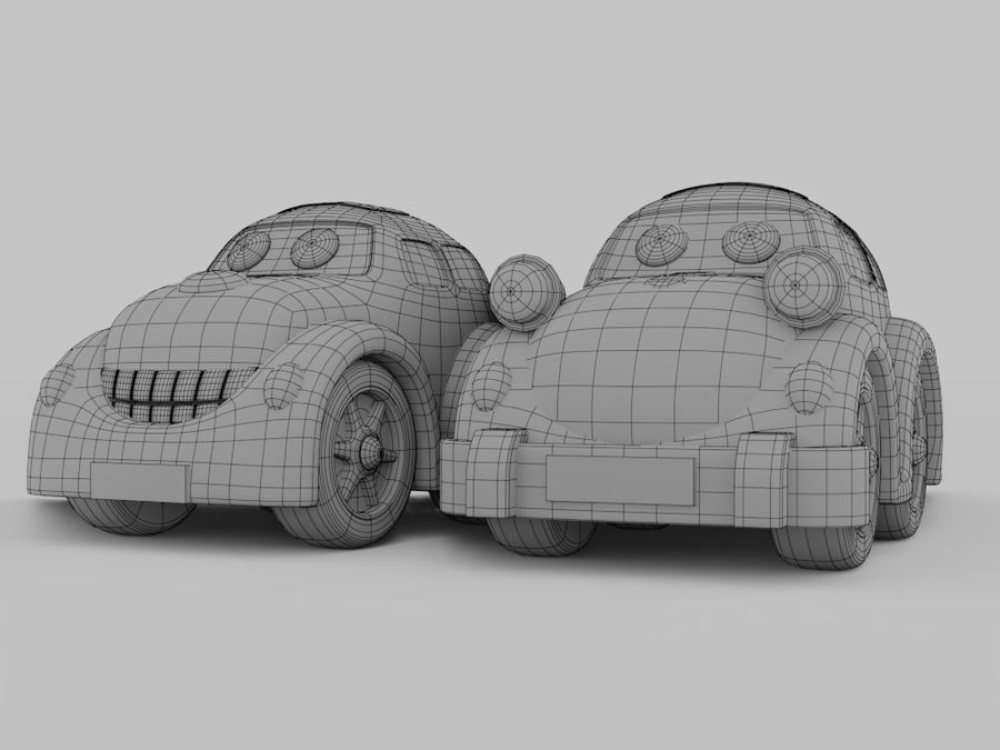 Toy car for cartoon 021 royalty-free 3d model - Preview no. 2