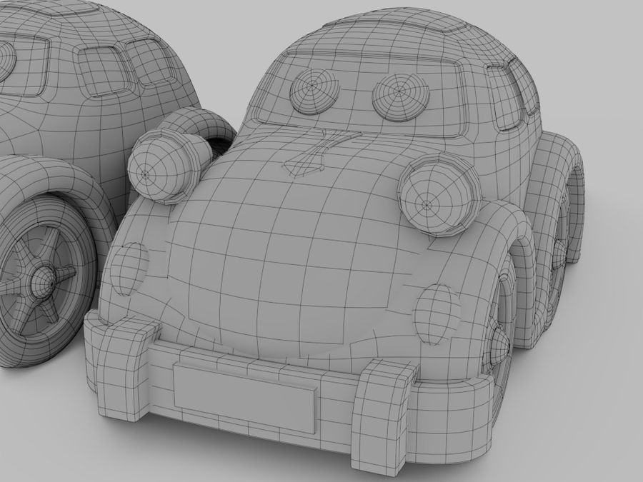 Toy car for cartoon 021 royalty-free 3d model - Preview no. 6