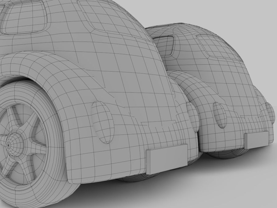 Toy car for cartoon 021 royalty-free 3d model - Preview no. 12
