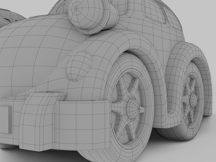 Toy car for cartoon 021 royalty-free 3d model - Preview no. 10