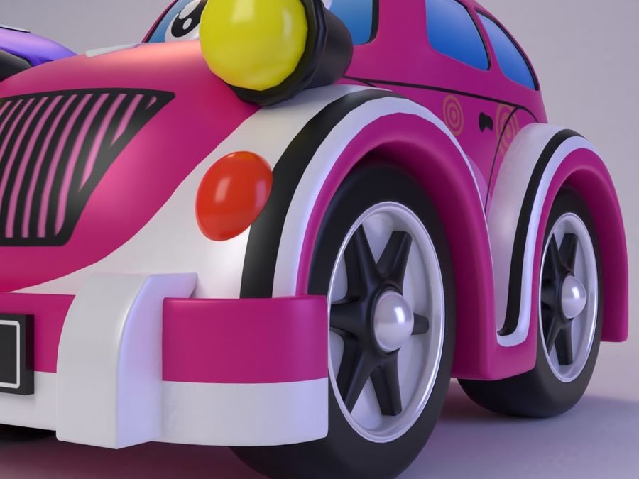 Toy car for cartoon 021 royalty-free 3d model - Preview no. 9