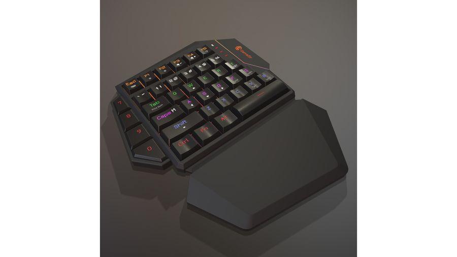 Gaming Keyboard royalty-free 3d model - Preview no. 2