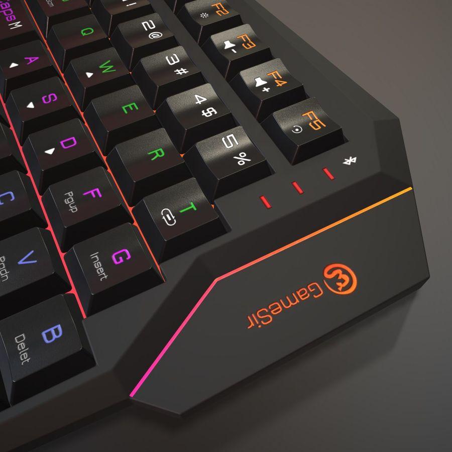 Gaming Keyboard royalty-free 3d model - Preview no. 5
