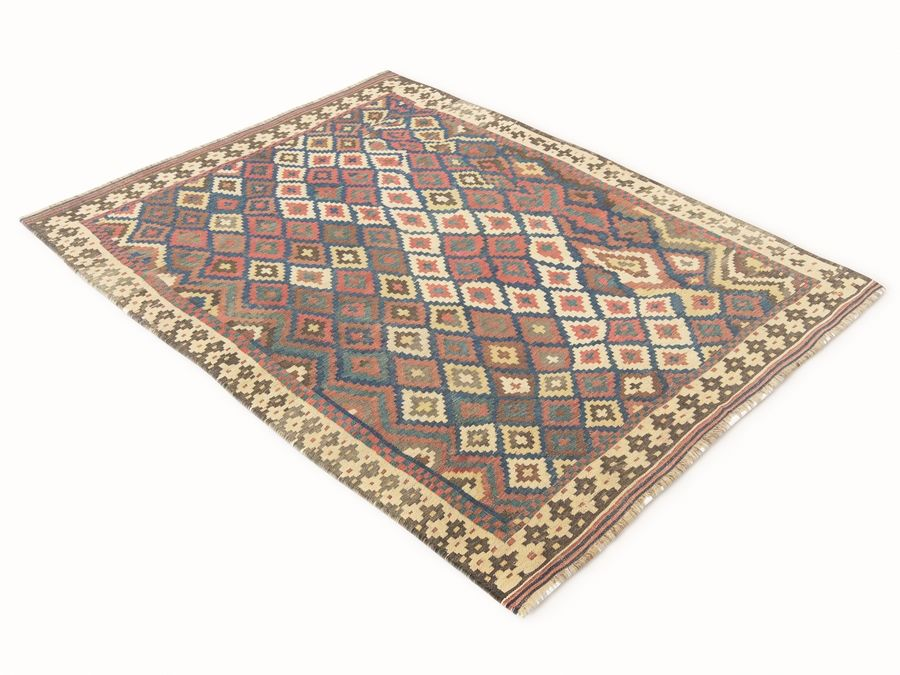 Vintage turkish kilim rugs vol 44 royalty-free 3d model - Preview no. 6