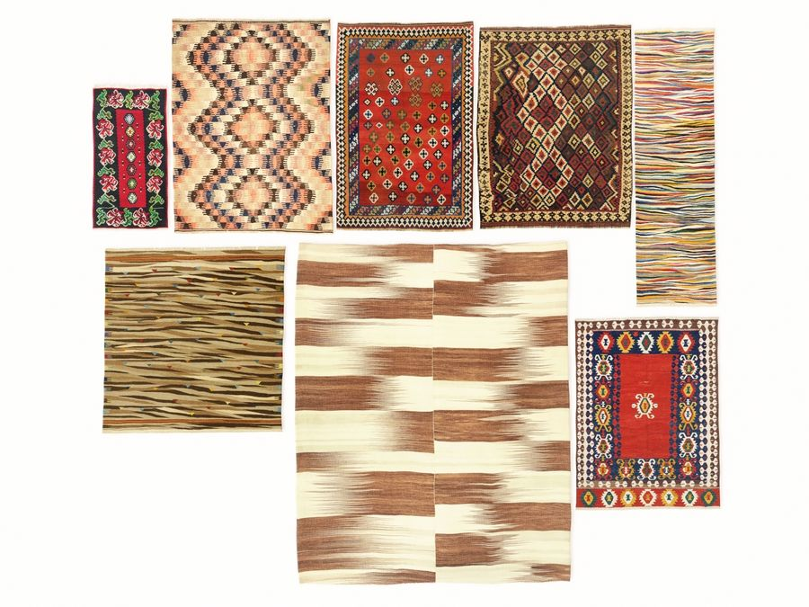 Vintage turkish kilim rugs vol 44 royalty-free 3d model - Preview no. 1