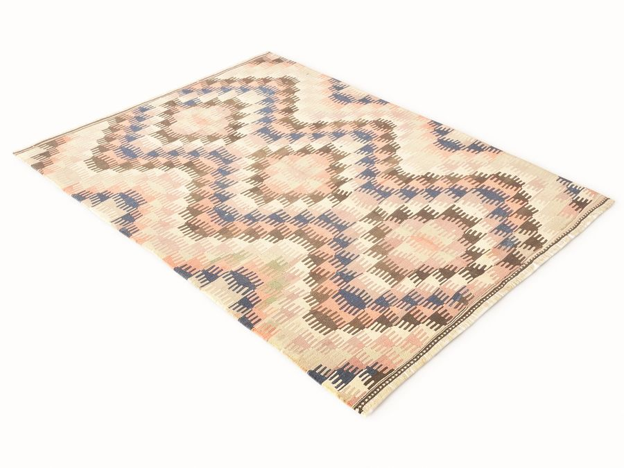 Vintage turkish kilim rugs vol 44 royalty-free 3d model - Preview no. 4