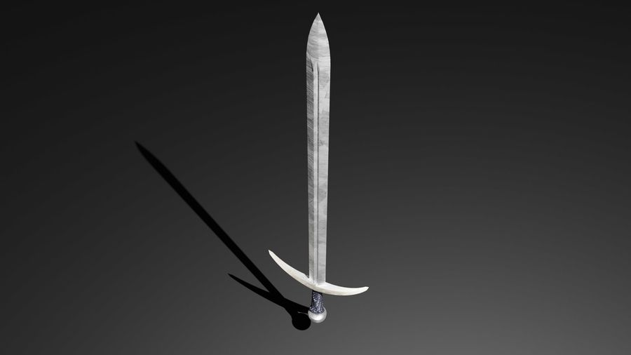 Medieval Sword royalty-free 3d model - Preview no. 2