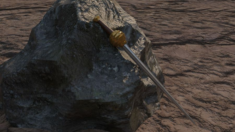 10 Swords asset Pack royalty-free 3d model - Preview no. 7