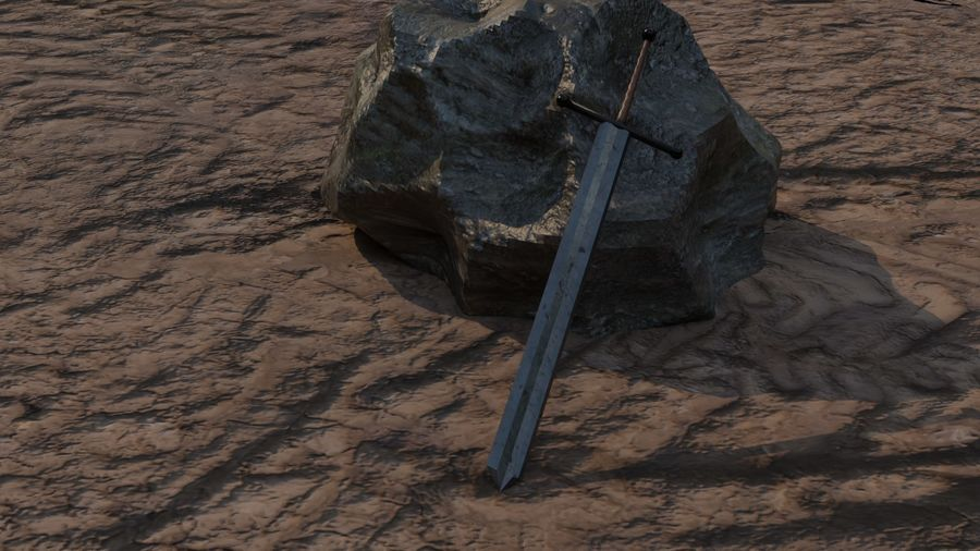 10 Swords asset Pack royalty-free 3d model - Preview no. 3