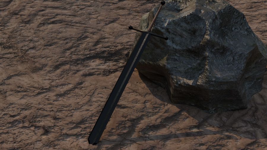 10 Swords asset Pack royalty-free 3d model - Preview no. 4