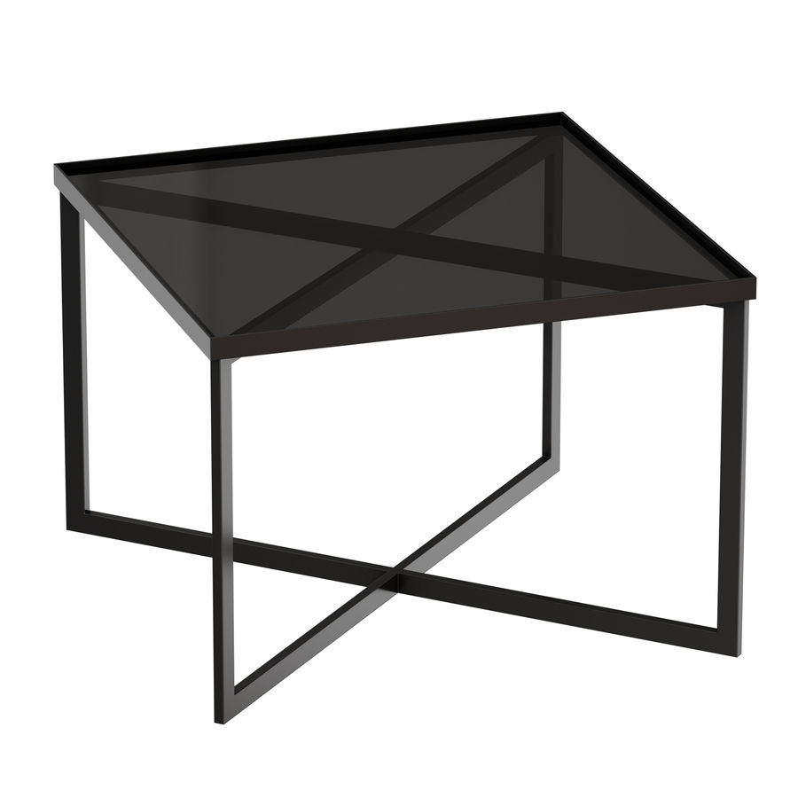 Gibson Smoke Glass Bunching Table royalty-free 3d model - Preview no. 1
