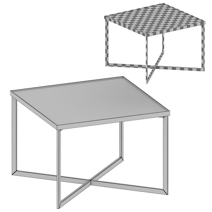 Gibson Smoke Glass Bunching Table royalty-free 3d model - Preview no. 5