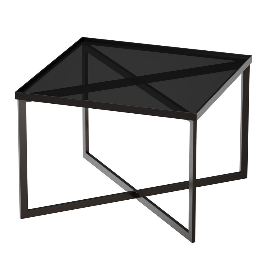 Gibson Smoke Glass Bunching Table royalty-free 3d model - Preview no. 4