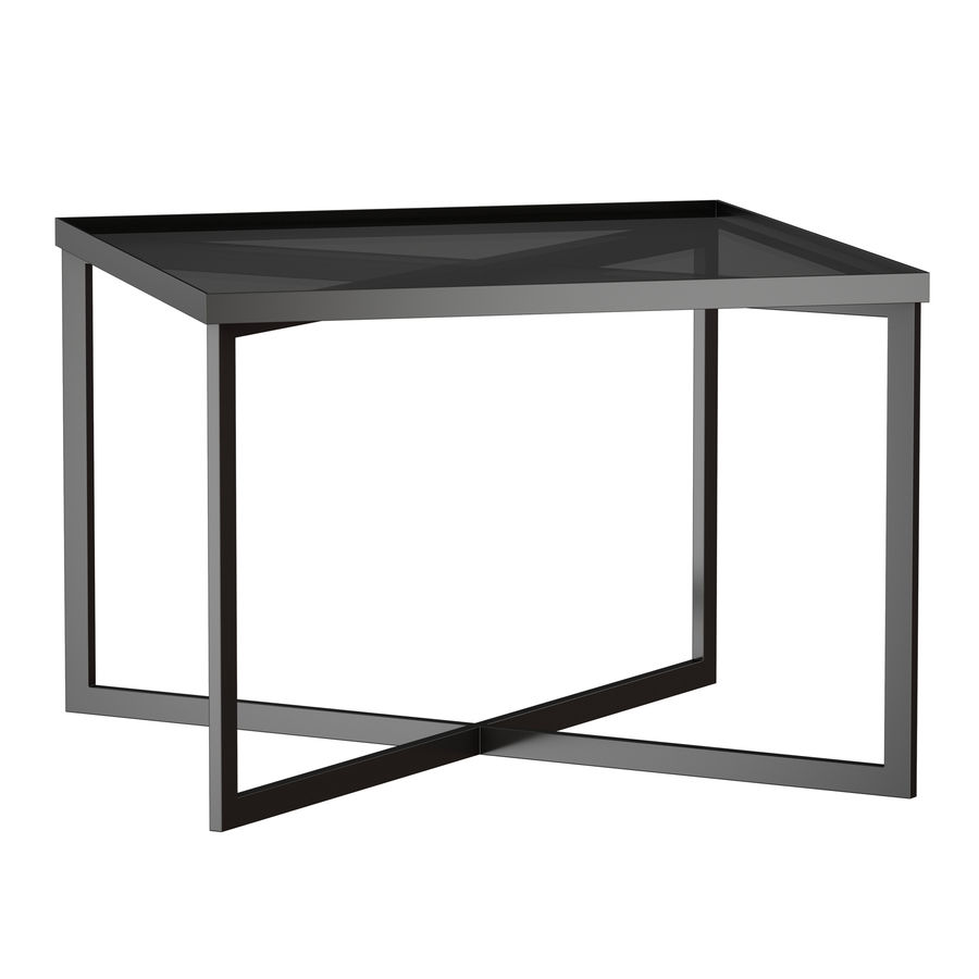 Gibson Smoke Glass Bunching Table royalty-free 3d model - Preview no. 2