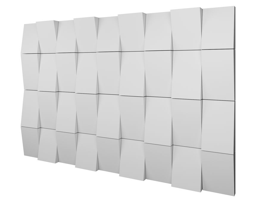 Decorative concrete wall panel 3 royalty-free 3d model - Preview no. 4