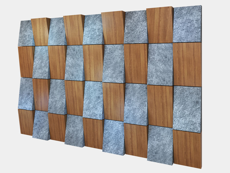 Decorative concrete wall panel 3 royalty-free 3d model - Preview no. 2
