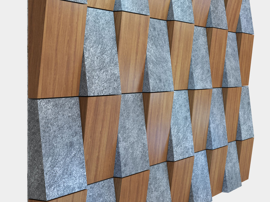 Decorative concrete wall panel 3 royalty-free 3d model - Preview no. 3