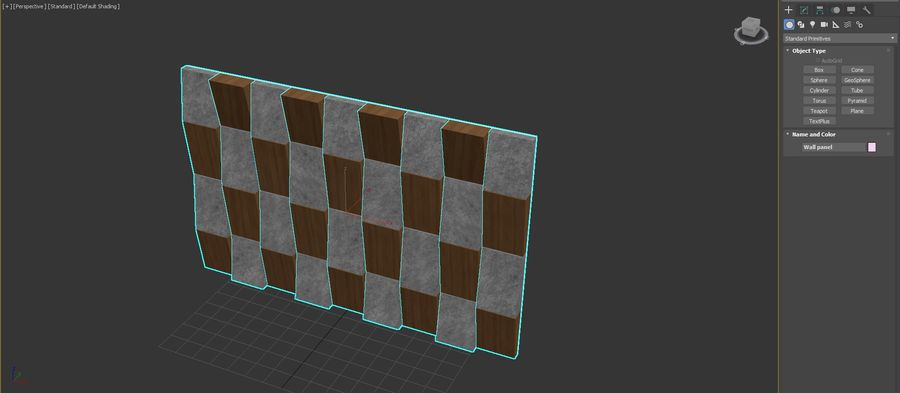 Decorative concrete wall panel 3 royalty-free 3d model - Preview no. 5
