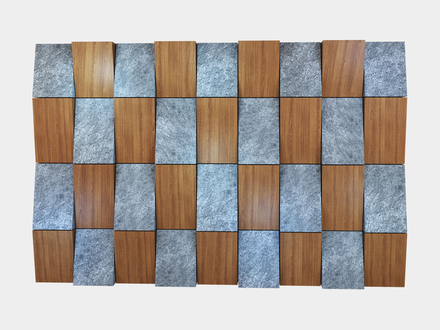 Decorative concrete wall panel 3 royalty-free 3d model - Preview no. 1