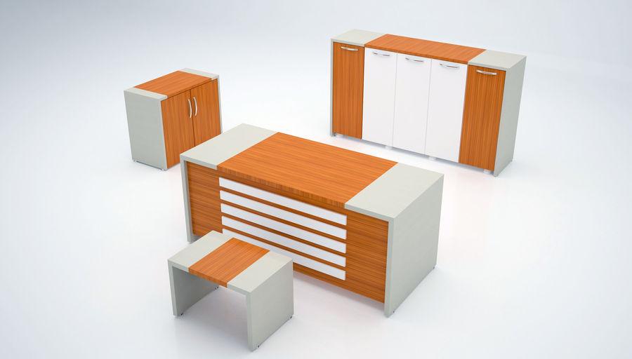 Ege Office Furniture 3D Model royalty-free 3d model - Preview no. 1