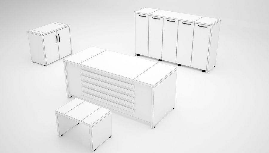 Ege Office Furniture 3D Model royalty-free 3d model - Preview no. 5