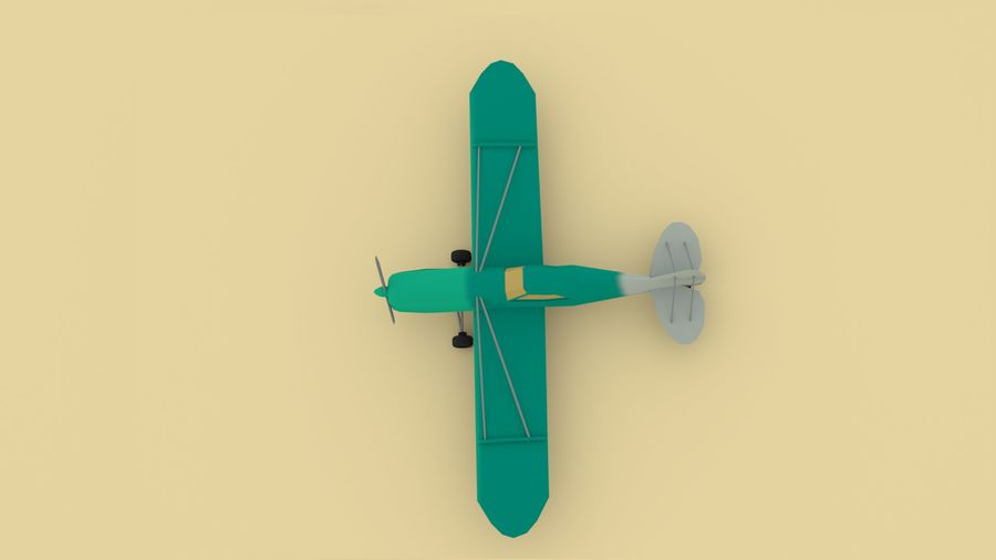 Airplane cartoon - 05 royalty-free 3d model - Preview no. 3