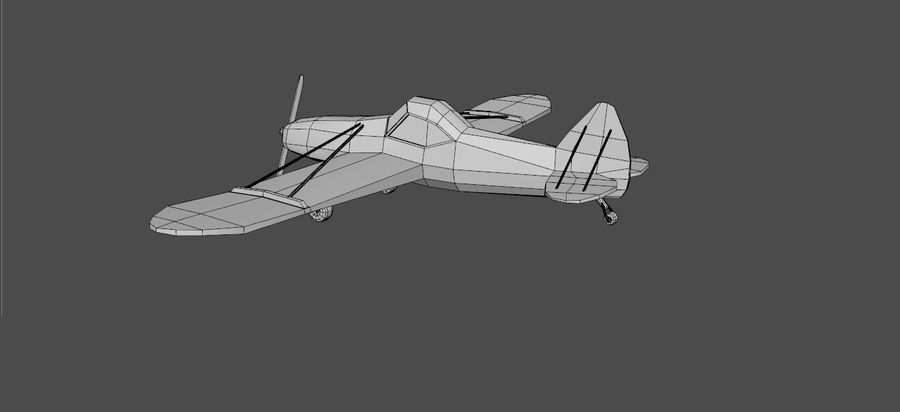 Airplane cartoon - 05 royalty-free 3d model - Preview no. 6