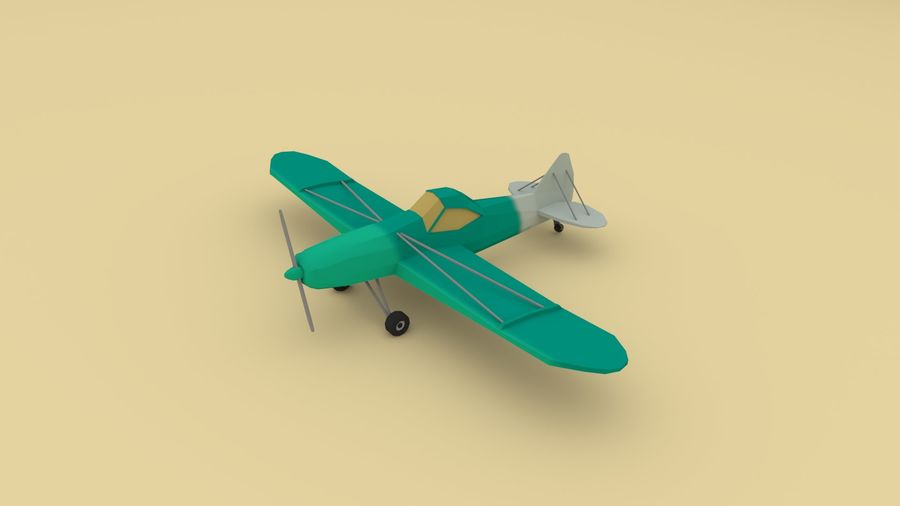 Airplane cartoon - 05 royalty-free 3d model - Preview no. 1