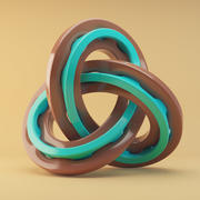 abstract knot 3d model
