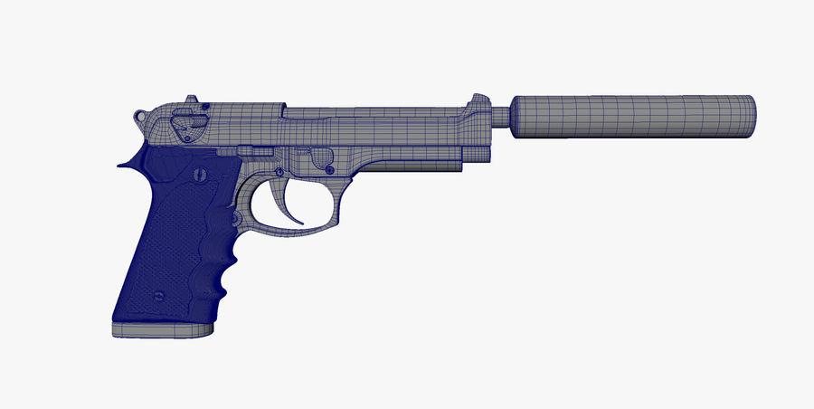 Gun royalty-free 3d model - Preview no. 6