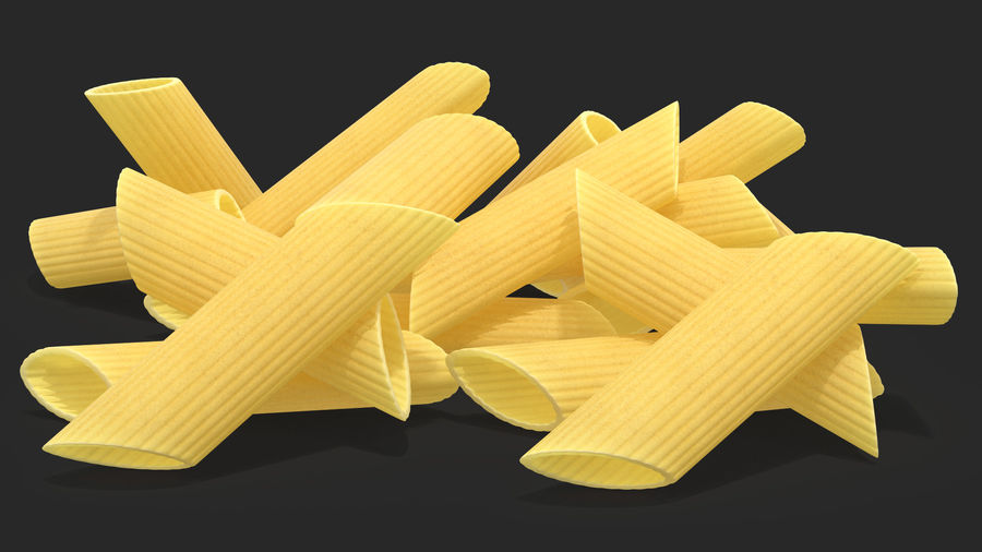 Italian Pasta Collection 3 royalty-free 3d model - Preview no. 10