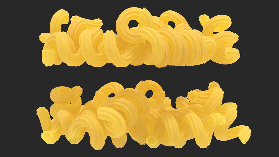 Italian Pasta Collection 3 royalty-free 3d model - Preview no. 31